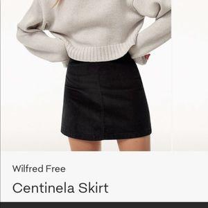 Aritzia Wilfred Free Maroon Skirt